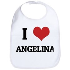 I Love Angelina Bib