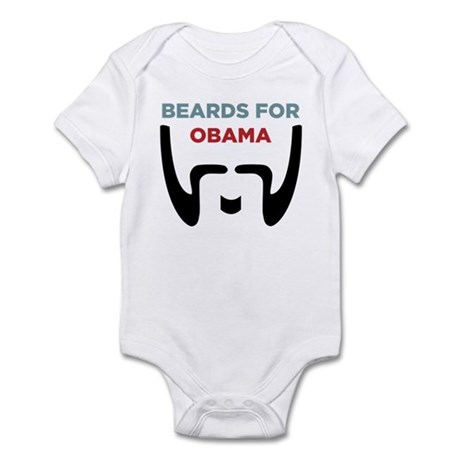 Beards for Obama Infant Bodysuit