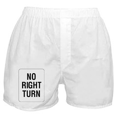 No Right Turn Sign - Boxer Shorts