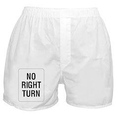 No Right Turn Sign - Boxer Shorts