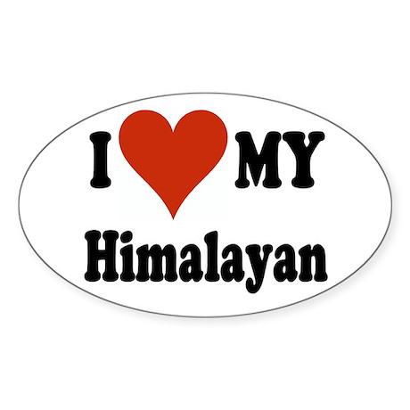 Himalayan Oval Sticker