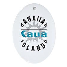 Kauai Hawaii Ornament (Oval)
