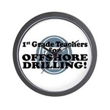 1st Grade Teachers For Offshore Drilling Wall Cloc
