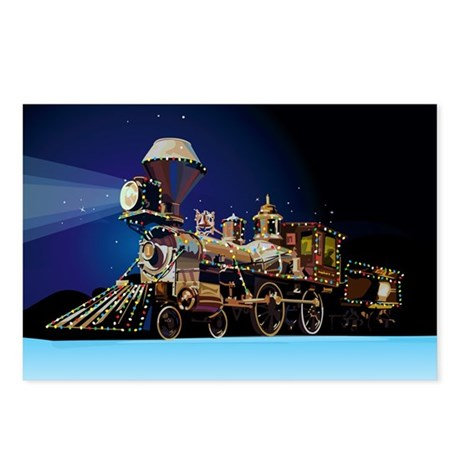 Christmas Train Postcards (Package of 8)