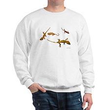 Four Crested Geckos Sweatshirt