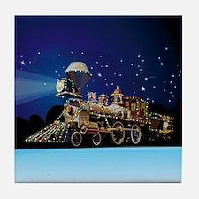 Christmas Train Tile Coaster