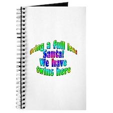Santa Twins Here Journal