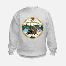 XmasMusic1/2 Dachshunds Sweatshirt