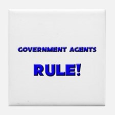 Government Agents Rule! Tile Coaster