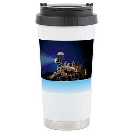 Christmas Train Stainless Steel Travel Mug