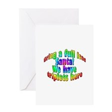 Full Load Santa_Triplets Greeting Card