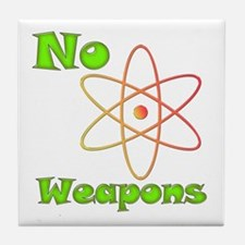 No Nuclear Weapons Tile Coaster