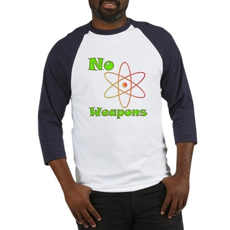No Nuclear Weapons Baseball Jersey
