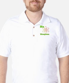 No Nuclear Weapons Golf Shirt