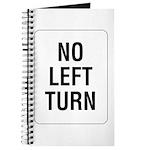 No Left Turn Sign - Journal