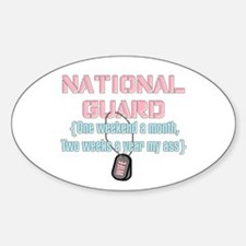 Two Weeks (G) Wife Oval Decal
