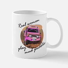 Real women play in mud puddle Mug