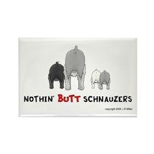 Nothin' Butt Schnauzers Rectangle Magnet (100 pack