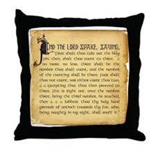 Holy Grenade Throw Pillow