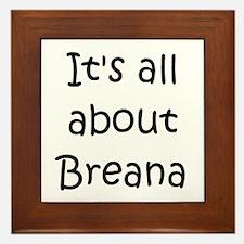 Cute Breana Framed Tile