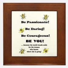 Be Courageous Framed Tile