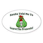 Guard Presents Oval Sticker (10 pk)