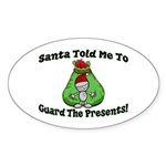 Guard Presents Oval Sticker (50 pk)