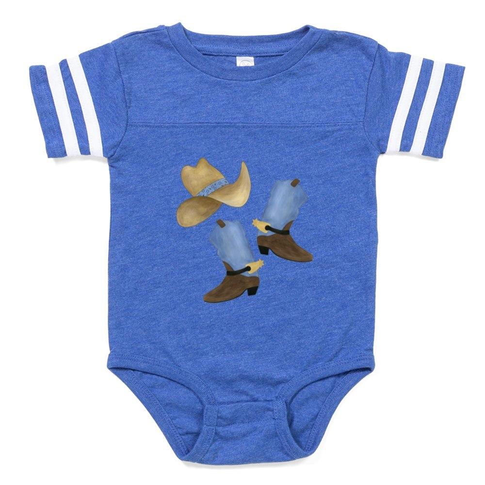 310423530 CafePress Western Baby Football Bodysuit
