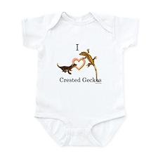 I Love Crested Geckos Infant Bodysuit