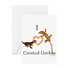 I Love Crested Geckos Greeting Card