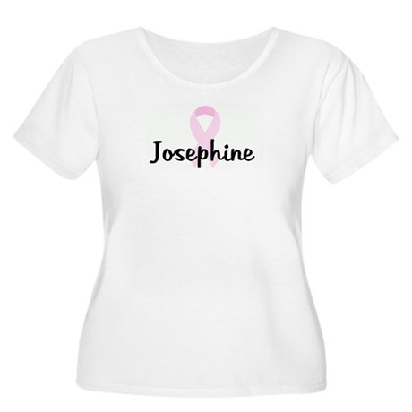 Josephine pink ribbon Women's Plus Size Scoop Neck