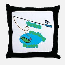 YiaYia's Fishing Buddy Throw Pillow