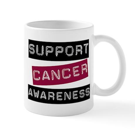 Cancer Awareness (Burgundy) Mug