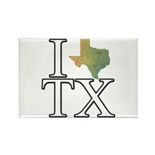 I Texas TX Rectangle Magnet
