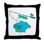 VaVa's Fishing Buddy Throw Pillow