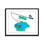 VaVa's Fishing Buddy Framed Panel Print