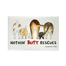 Dog Breed Rescues Rectangle Magnet (100 pack)
