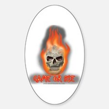 Game or Die Oval Decal