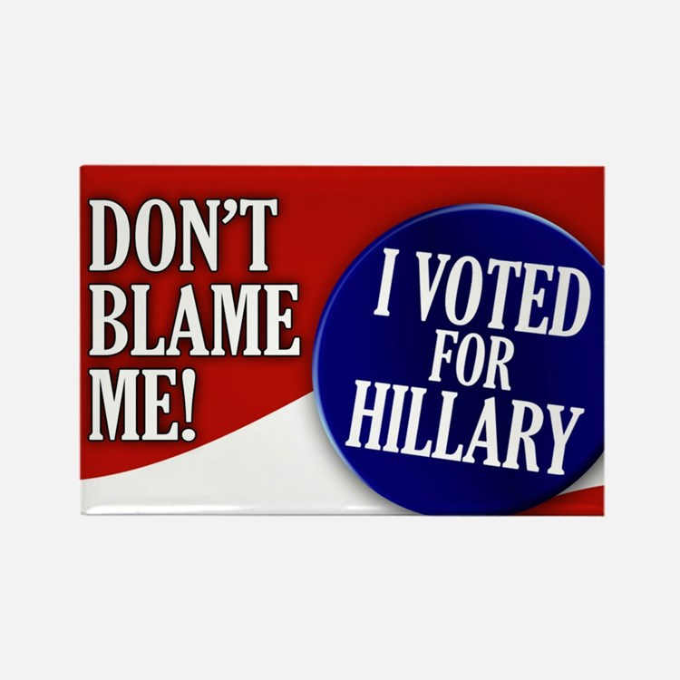 I Voted for Hillary Rectangle Magnet