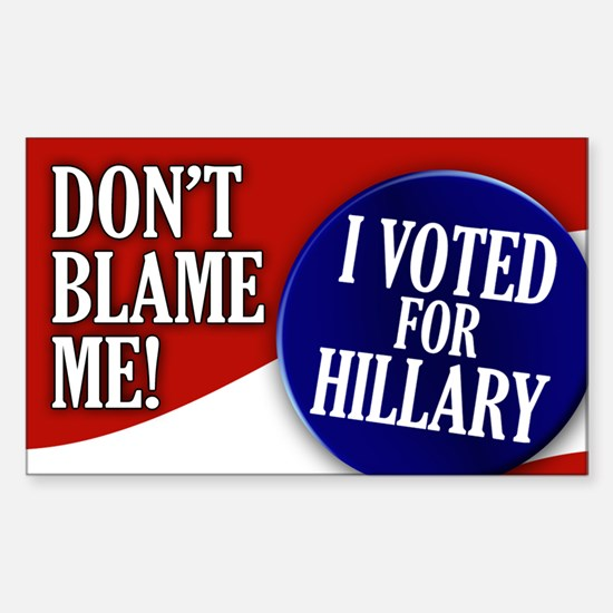 I Voted for Hillary Rectangle Decal
