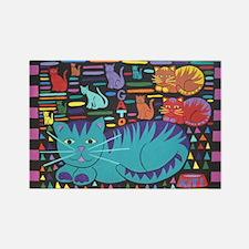 Cat 'n Gato Rectangle Magnet