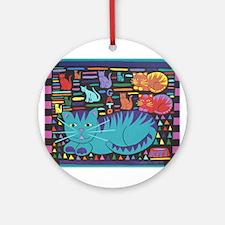 Cat 'n Gato Ornament (Round)