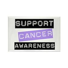Cancer Awareness (Lavender) Rectangle Magnet