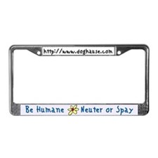 Cool Spay neuter rescue License Plate Frame