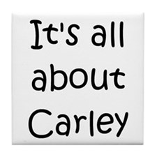 Funny Carley Tile Coaster