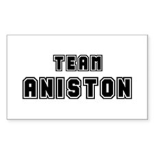 Team Aniston (black) Rectangle Decal