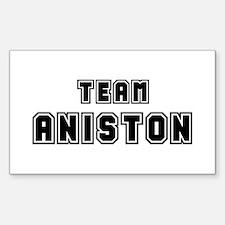 Team Aniston (black) Rectangle Decal