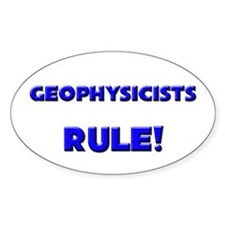 Geophysicists Rule! Oval Decal