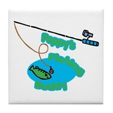 Poppy's Fishing Buddy Tile Coaster