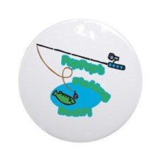 PapPap's Fishing Buddy Ornament (Round)